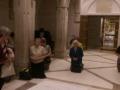 W Sanktuarium Jana Pawła II przy płycie nagrobnej z Watykanu
