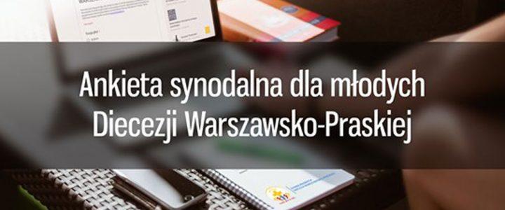 Ankieta synodalna dla młodych (16-30) Diecezji Warszawsko-Praskiej